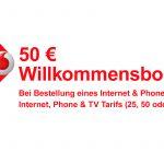 Vodafone 50,-€ Willkommensbonus