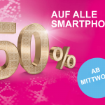 Telekom Mobilfunk: 50 % Aktion auf alle Smartphones