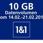Valentinstagsgeschenk von 1&1: 10 GB Datenvolumen kostenlos