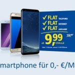 1&1: Samsung Galaxy S8, S7, A5 und A3 ohne einmalige Zuzahlung
