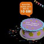 10 Jahre congstar: Allnet Flats mit bis zu 10 GB/Monat