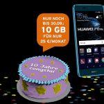 Verlängert! congstar Geburtstagsspecial mit bis zu 10 GB Datenvolumen