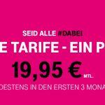 #Dabei: Viele Telekom Tarife für nur 19,95 €
