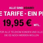 #Dabei: Alle Telekom Tarife für nur 19,95 €
