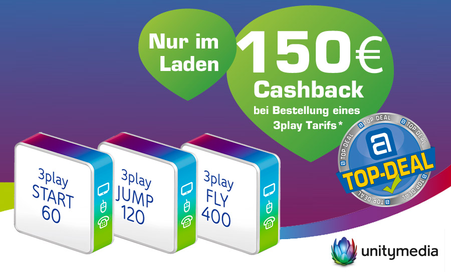 Unitymedia Top-Deal: 150 € Cashback