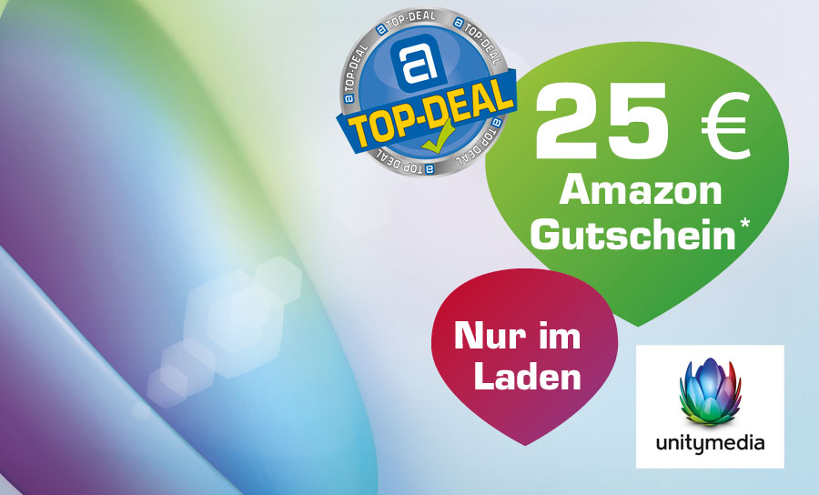 Unitymedia Top-Deal: 25 € Amazon Gutschein